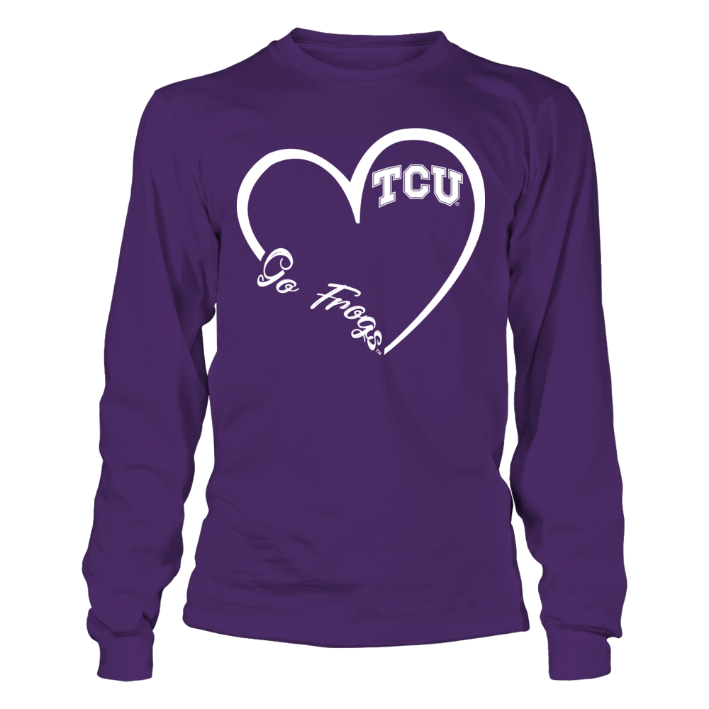TCU Horned Frogs - Heart 3/4 Front picture