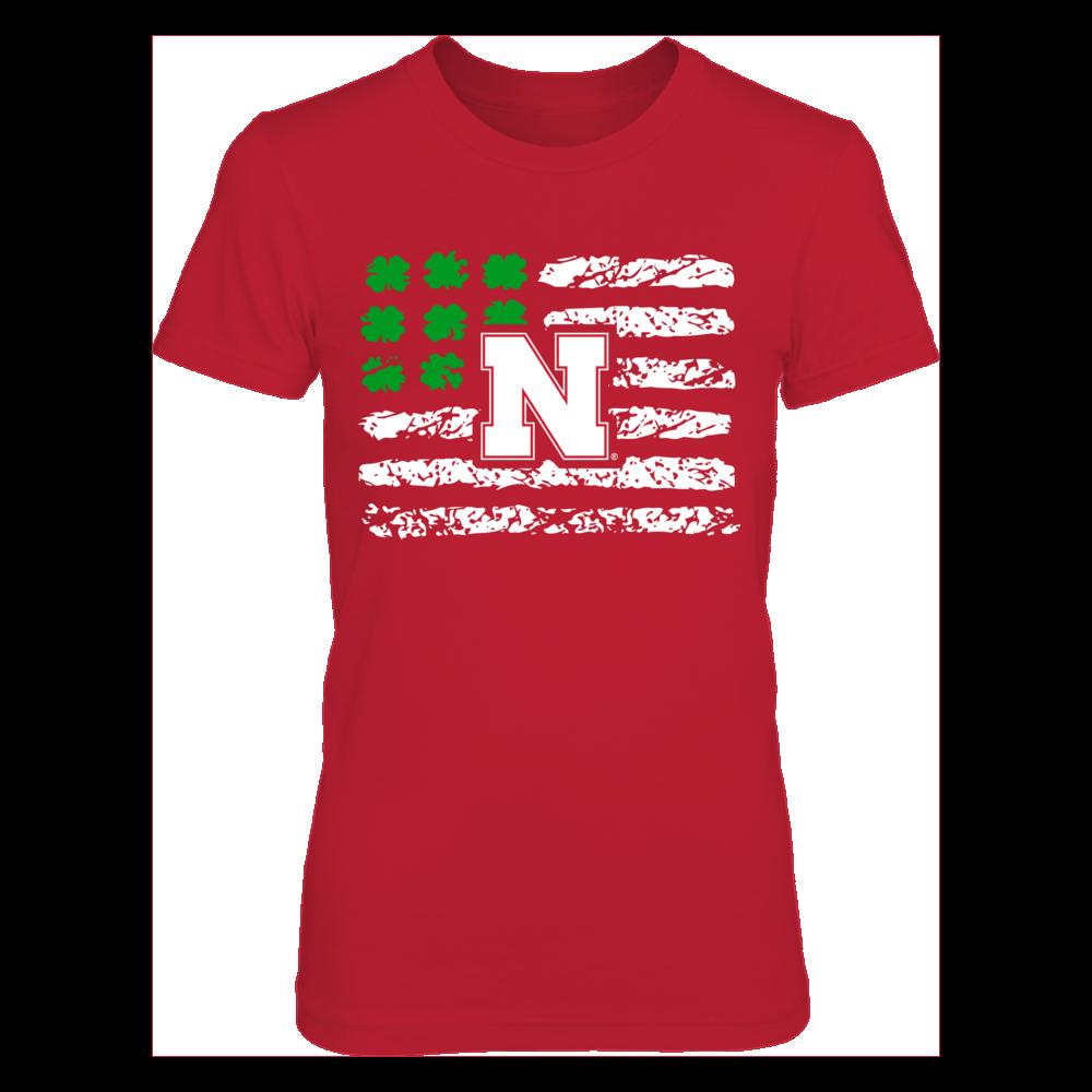 Nebraska Cornhuskers - Nation Flag Shamrock Front picture