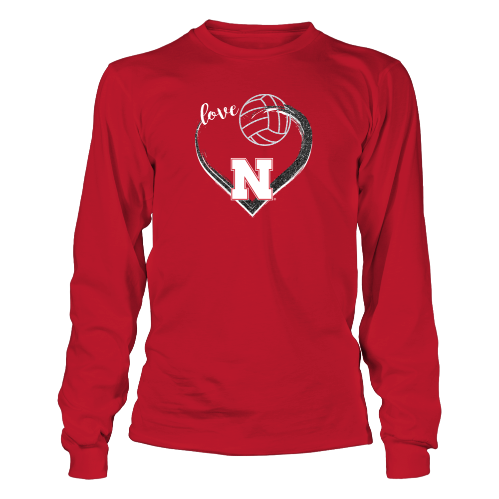 University Nebraska Volleyball - Love that Glitter Front picture
