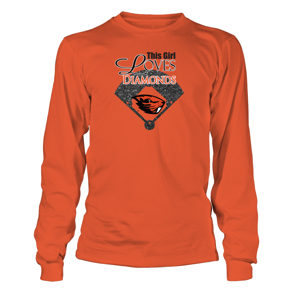 Oregon State Baseball Clothing - This Girl Loves Diamonds Front picture