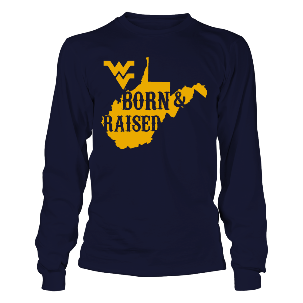 LIMITED EDITION BORN & RAISED - WEST VIRGINIA MOUNTAINEERS Front picture