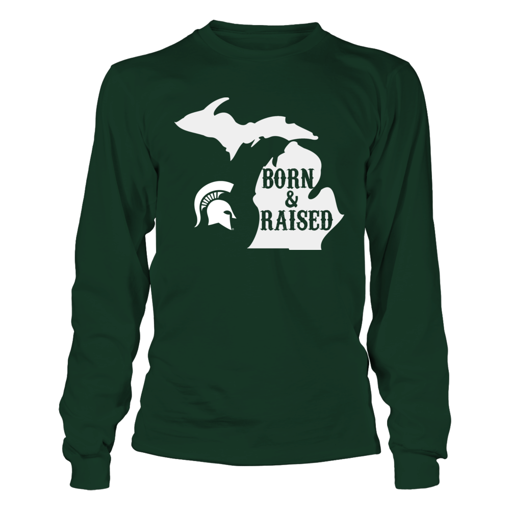 LIMTED EDITION BORN & RAISED - MICHIGAN STATE SPARTANS Front picture