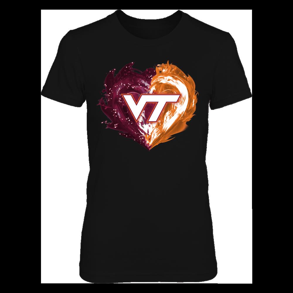 Virginia Tech Hokies - Fire & Water Heart Front picture