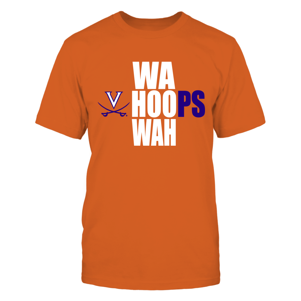 Virginia UVA Cavaliers Wahoowah Hoops Orange Shirt Front picture