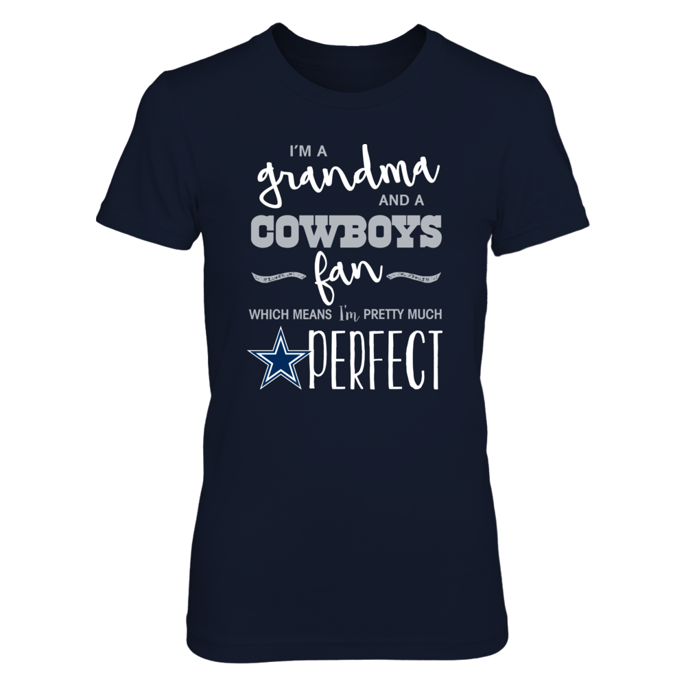 Perfect Grandma Cowboys Fan T Shirt / Tank / Hoodie Front picture