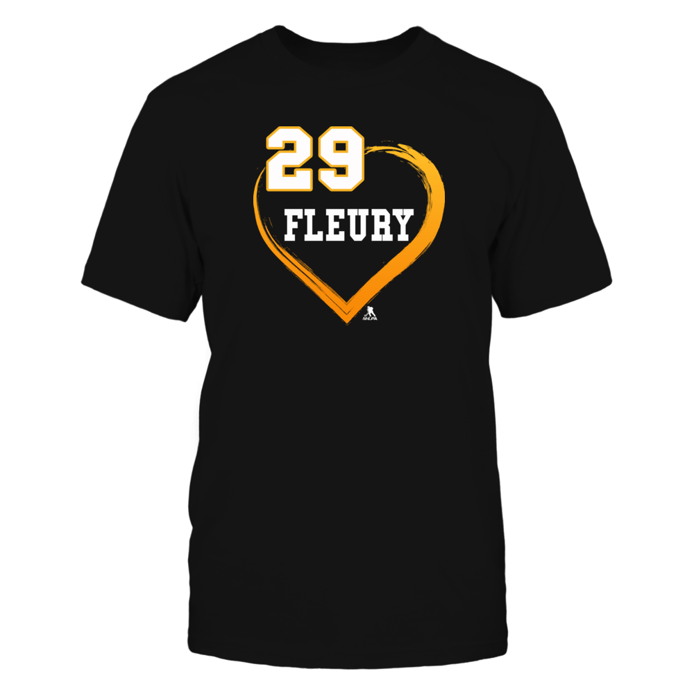 Marc-Andre Fleury Shirts - Gold Heart 29 Front picture
