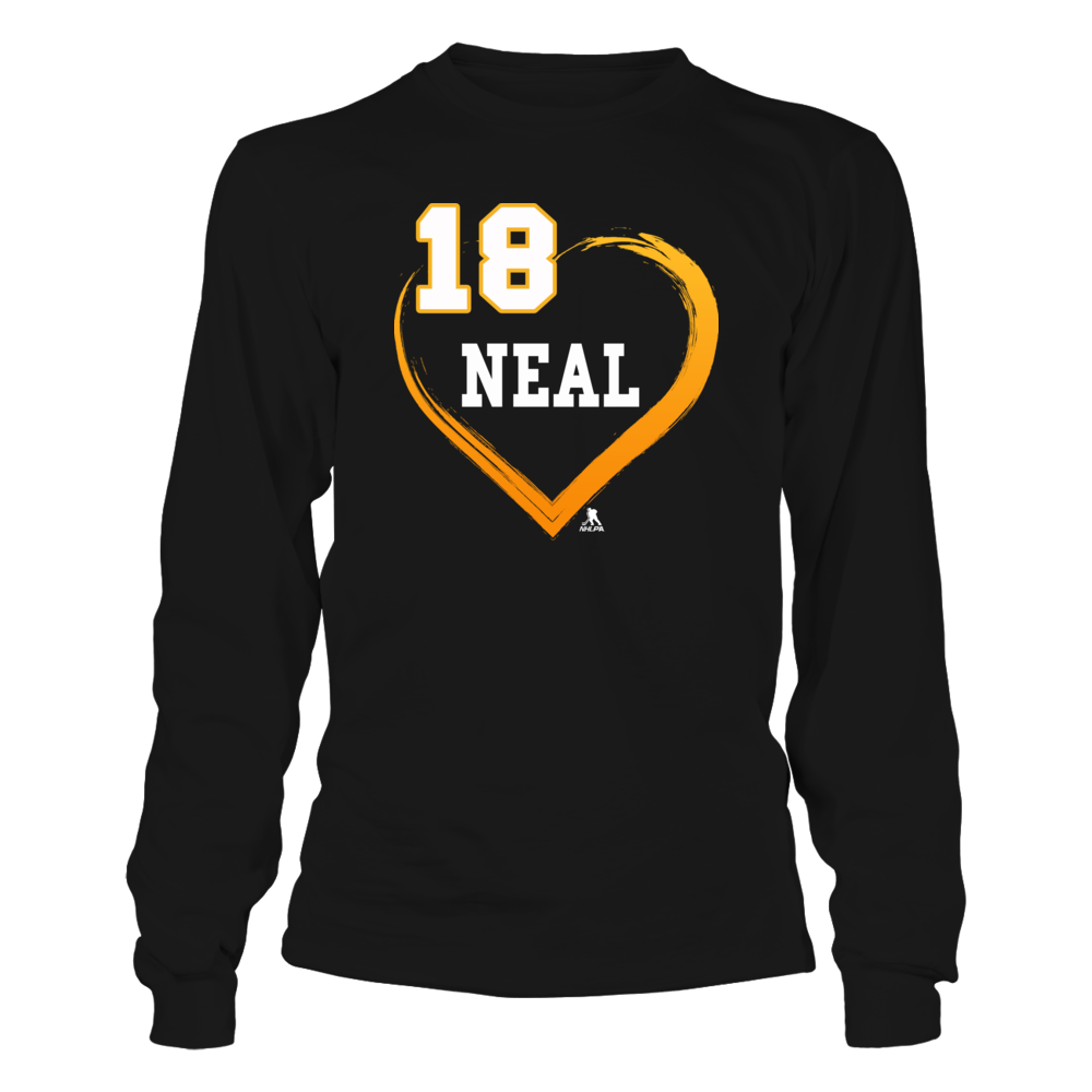 James Neal No. 18 - Gold Heart Shirt Front picture