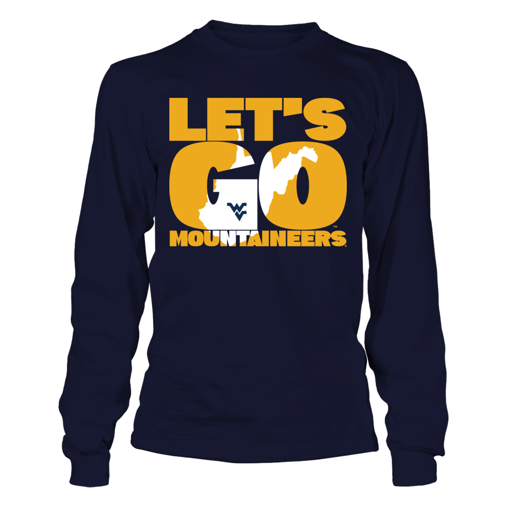 West Virginia Mountaineers - State Map Inside Slogan Front picture