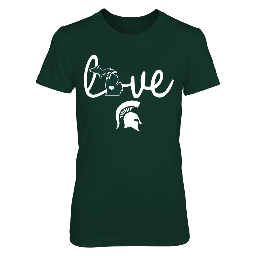 Michigan State Spartans - Love In State Outline Front picture