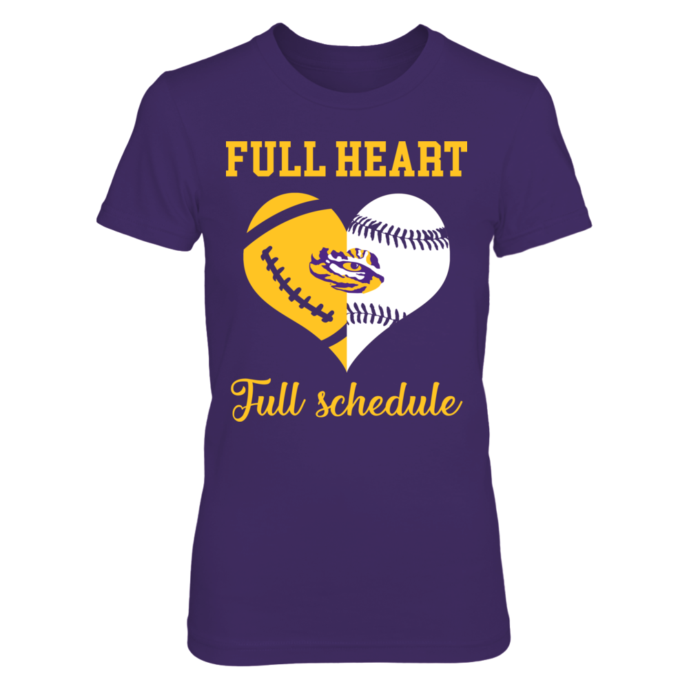 LSU Tigers - Full Heart - Full Schedule Front picture