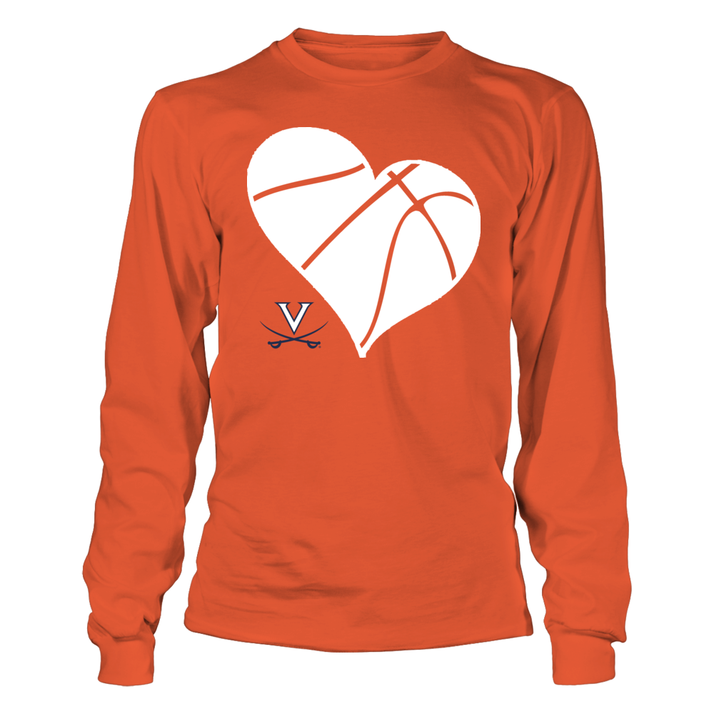 UVA Basketball Heart - Virginia Cavaliers Front picture