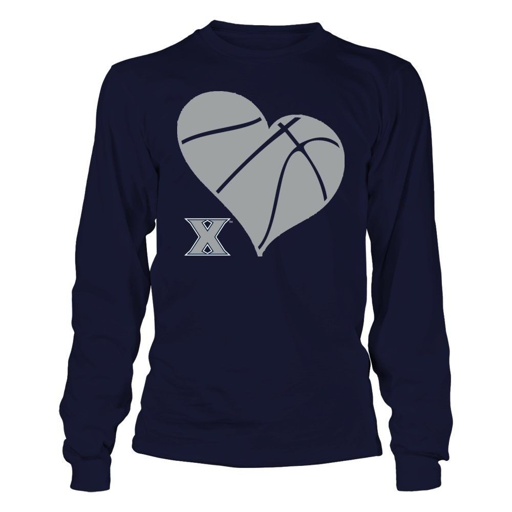 XU Basketball Heart - Xavier Musketeers Front picture