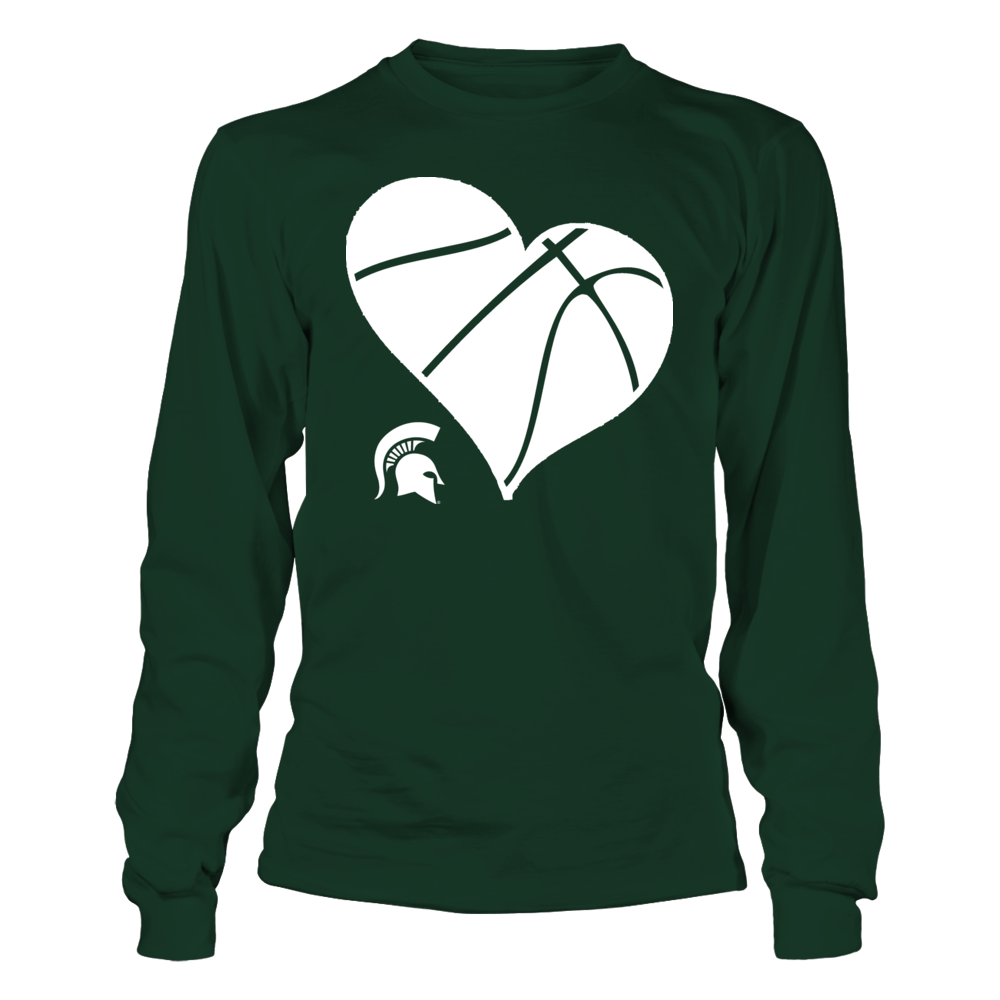 MSU Basketball Heart - Michigan State Spartans Front picture
