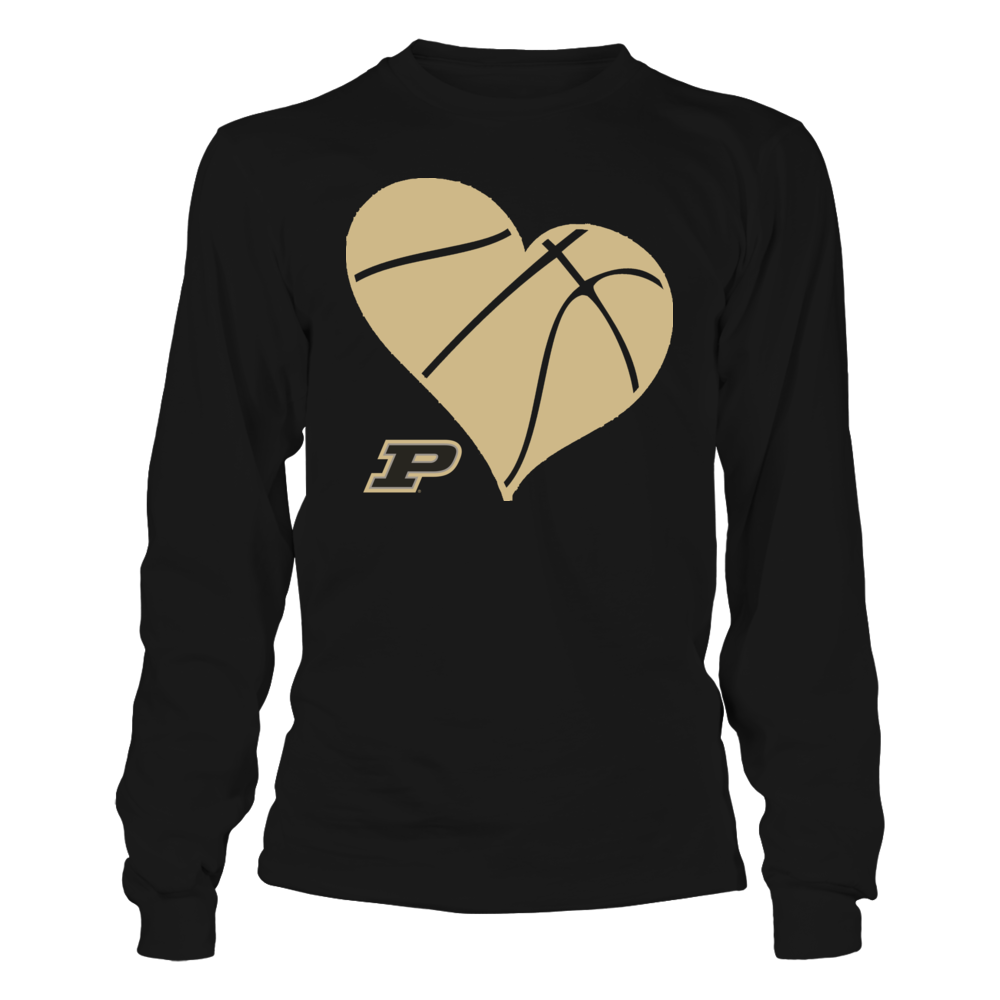 PU Basketball Heart - Purdue Boilermakers Front picture