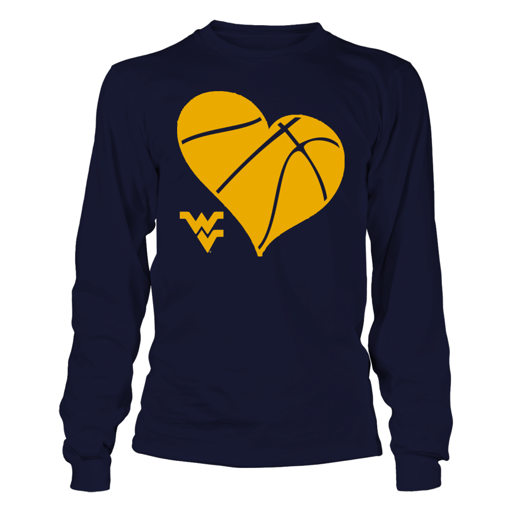 WVU Basketball Heart - West Virginia Mountaineers Front picture