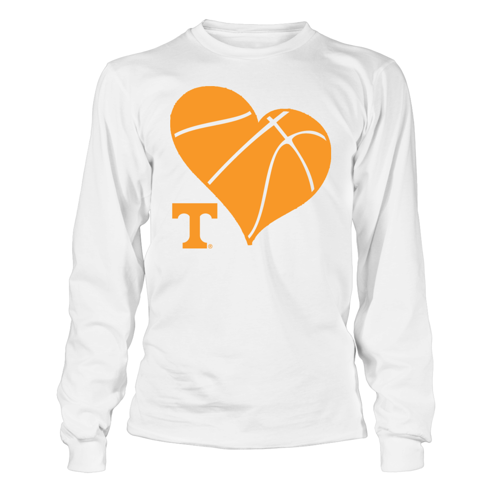 UT Basketball Heart - Tennessee Volunteers Front picture