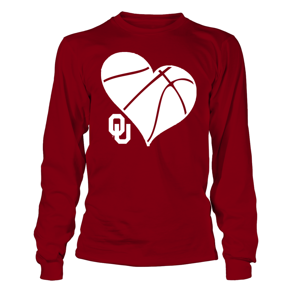 OU Basketball Heart - Oklahoma Sooners Front picture