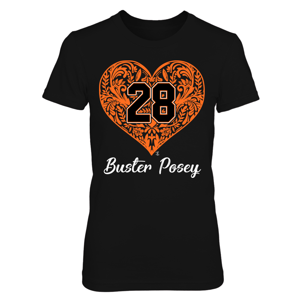 Buster Posey - Pattern Heart - Player Number Front picture