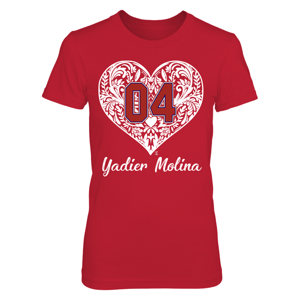 Yadier Molina - Pattern Heart - Player Number Front picture