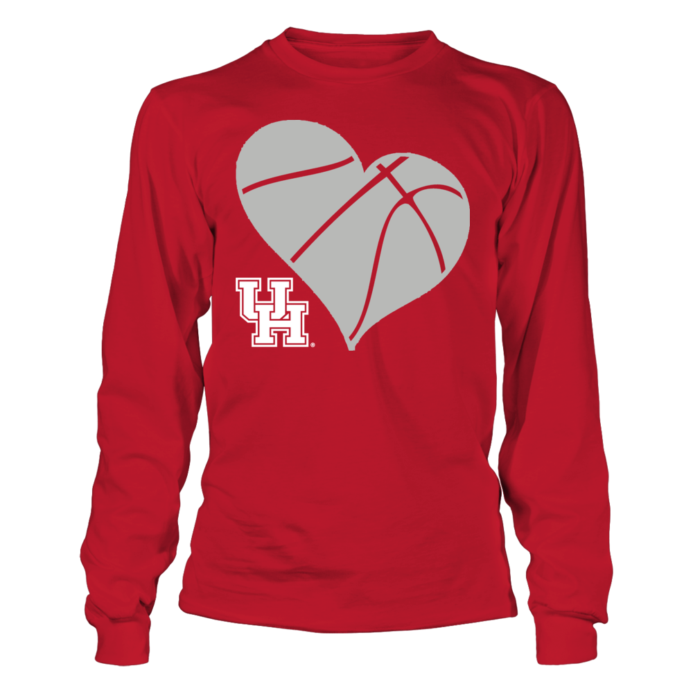 UH Basketball Heart - Houston Cougars Front picture