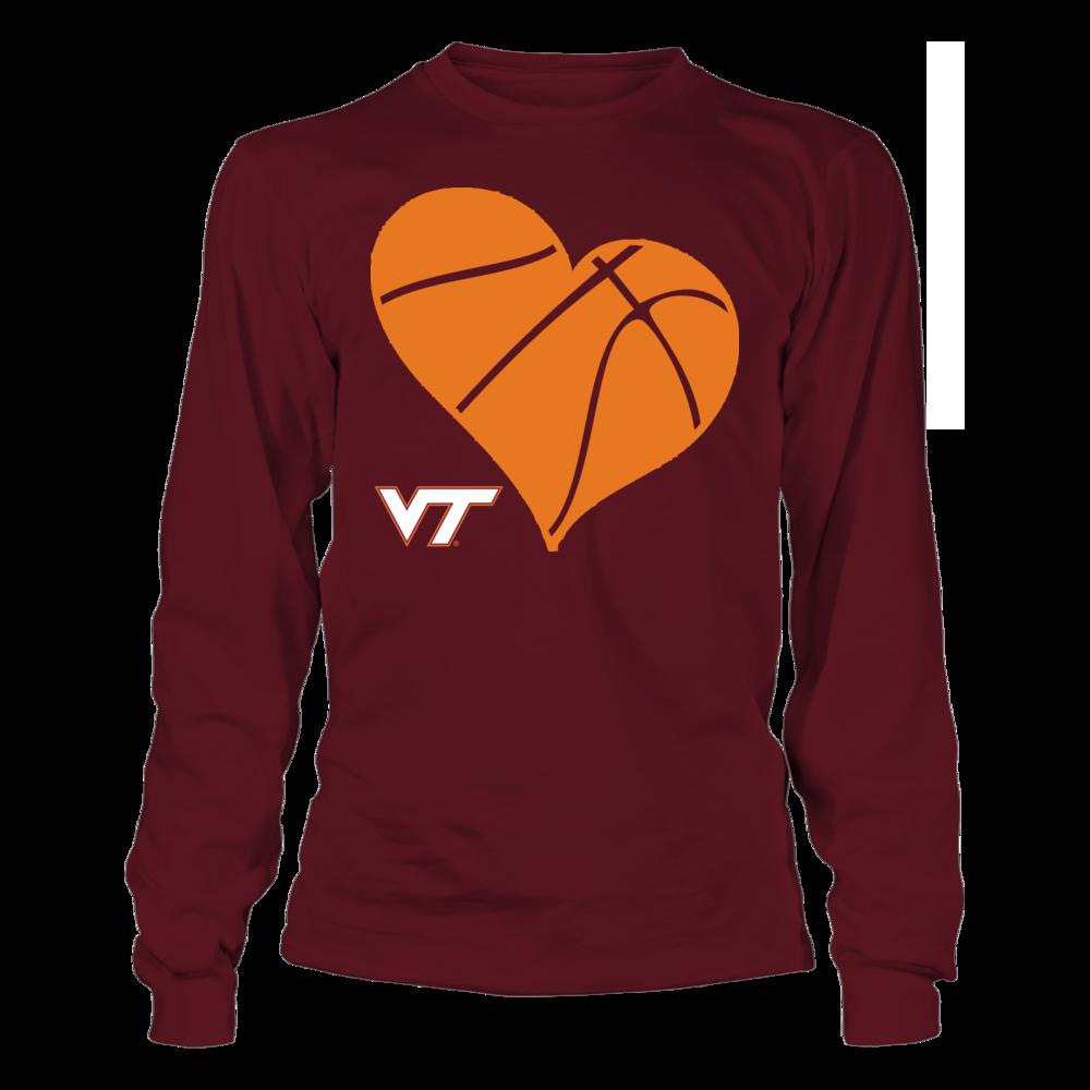 VT Basketball Heart - Virginia Tech Hokies Front picture
