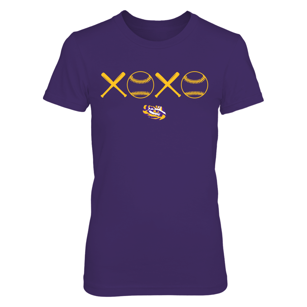 LSU Tigers - XOXO Baseball Front picture
