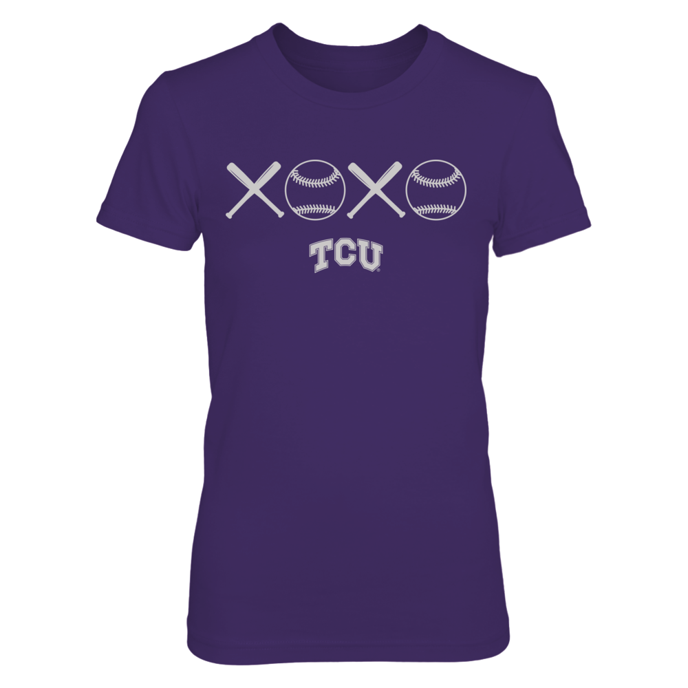 TCU Horned Frogs - XOXO Baseball Front picture