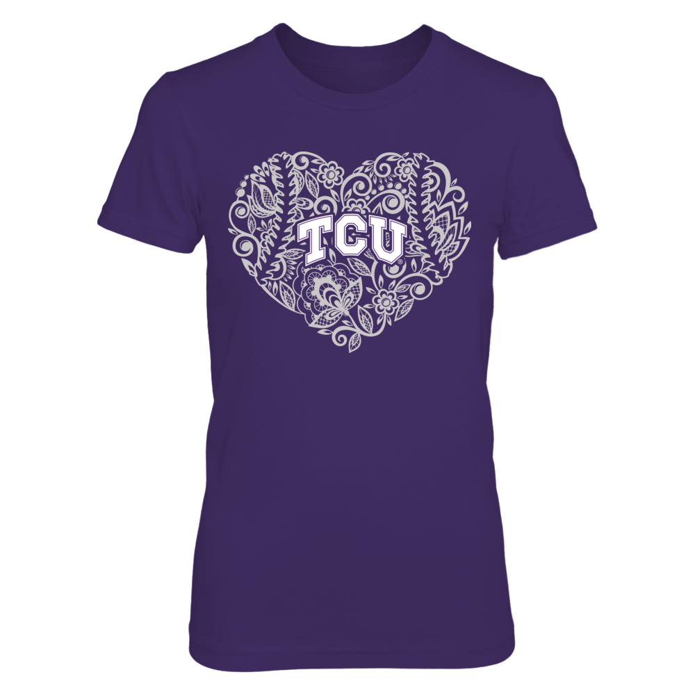 TCU Horned Frogs - Lace Heart Baseball Front picture