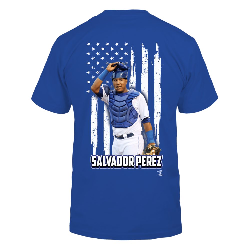 Salvador Perez - Player And Nation Flag - Back Back picture
