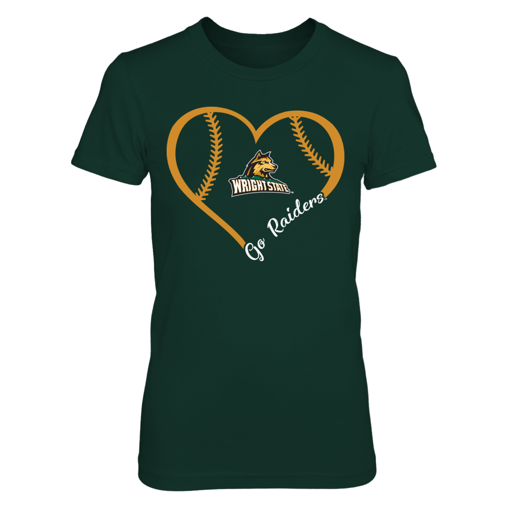Wright State Raiders - Heart 3/4 Front picture