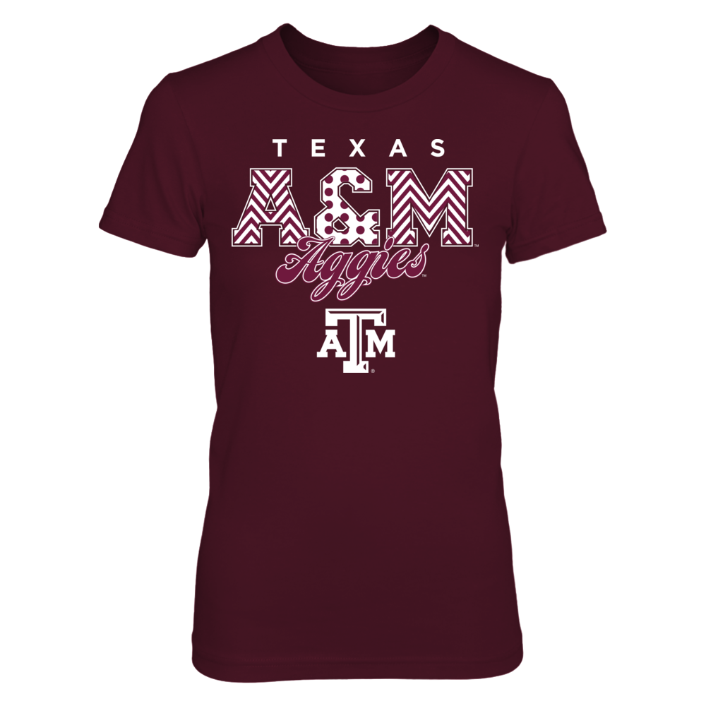 Texas A&M Aggies - Patterned Letters Front picture