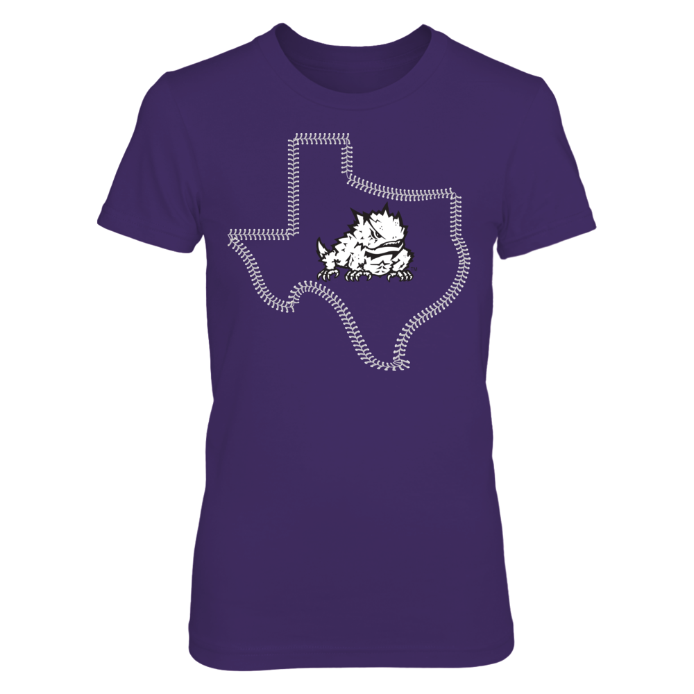 TCU Horned Frogs - Logo State Baseball Front picture