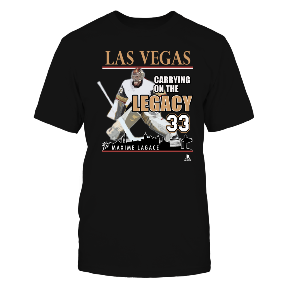 Las Vegas Golden Knights Shirts - Maxime Lagace Front picture