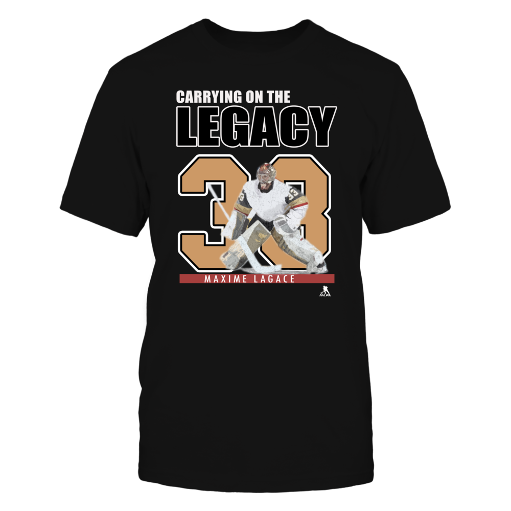 Las Vegas Golden Knights Shirts - Maxime Lagace, Carrying on the Legacy Front picture