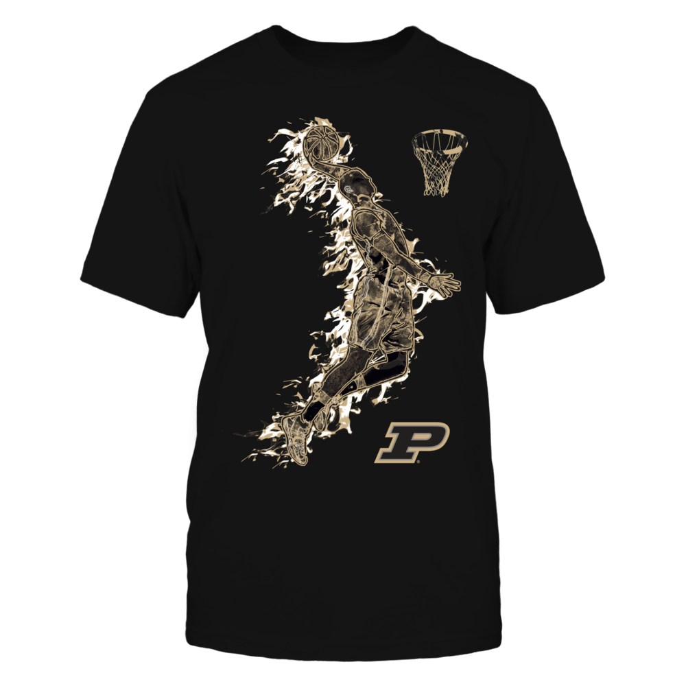 Purdue Boilermakers - Basketball Player On Fire Front picture