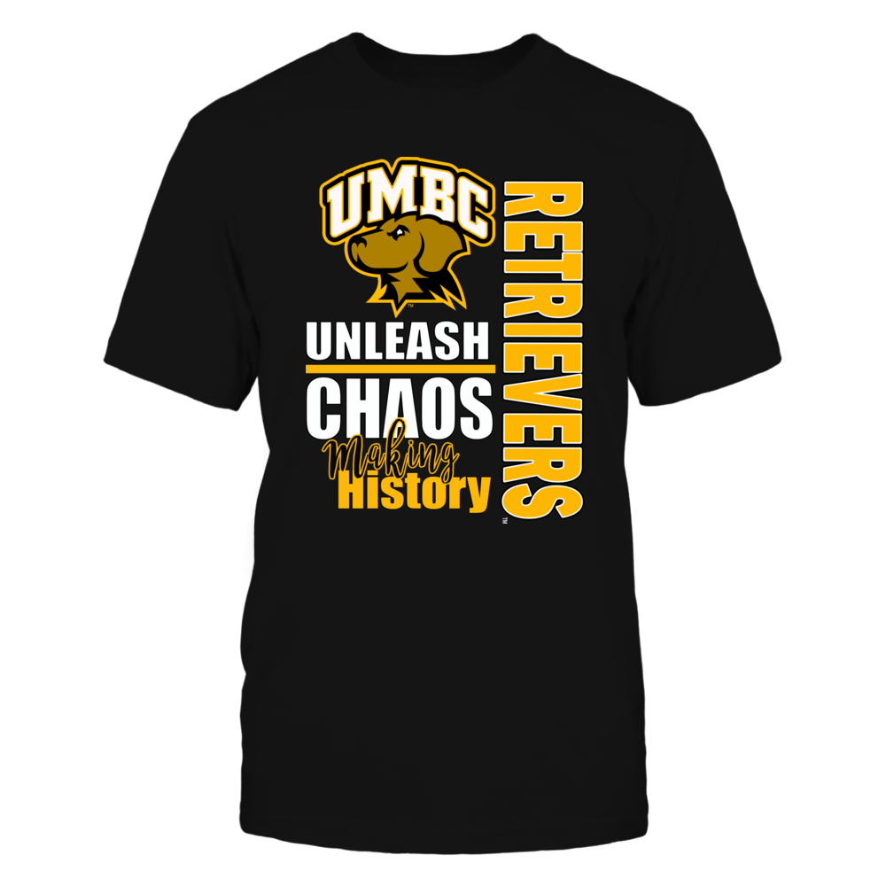 University Maryland Baltimore County (UMBC) Basketball - Unleash Chaos Front picture