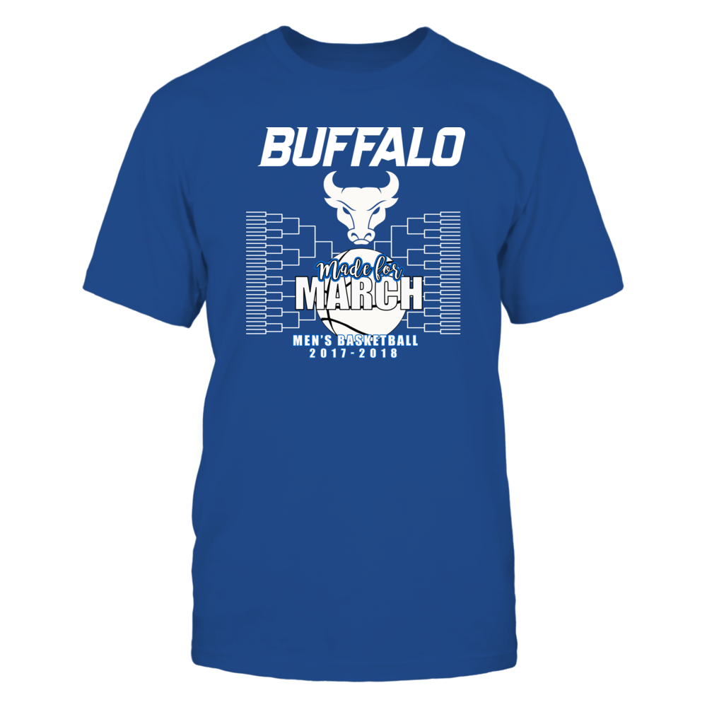 University Buffalo Basketball - Made for March, Mens Basketball Shirt 2017-2018 Front picture