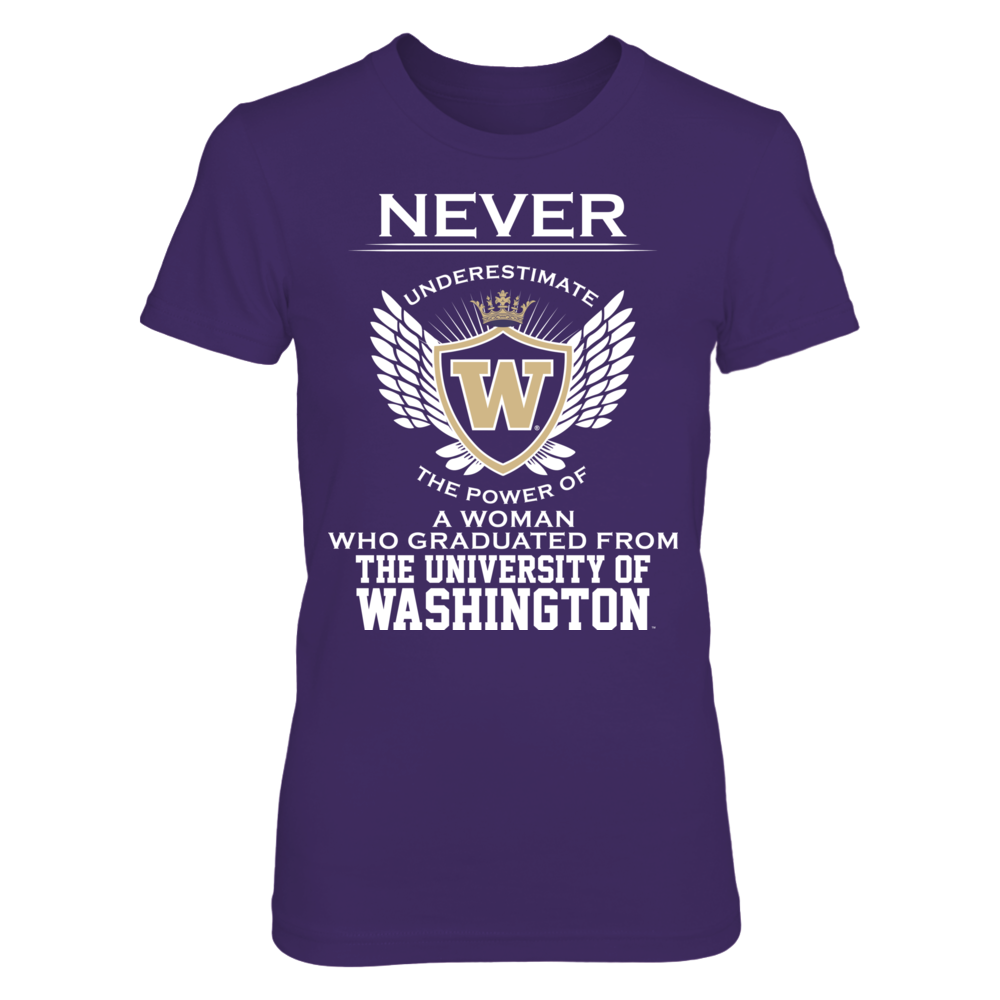 Never Underestimate - Washington Huskies Front picture