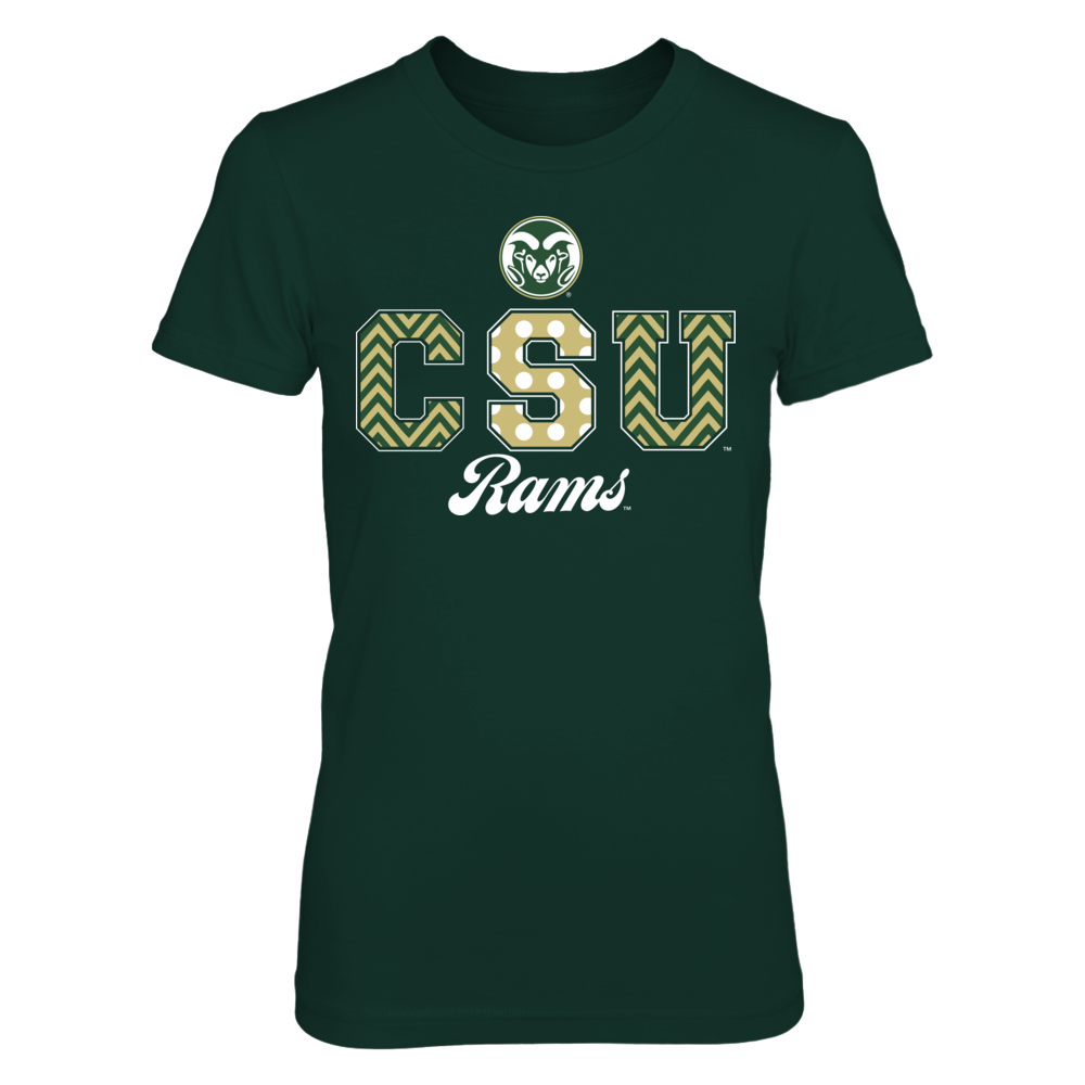 Patterned Letters - Colorado State Rams Front picture