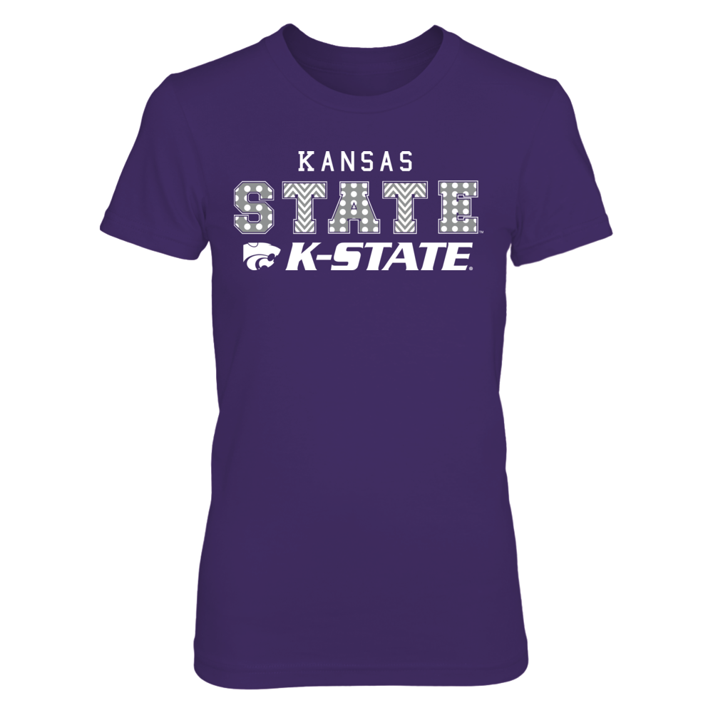 Patterned Letters - Kansas State Wildcats Front picture