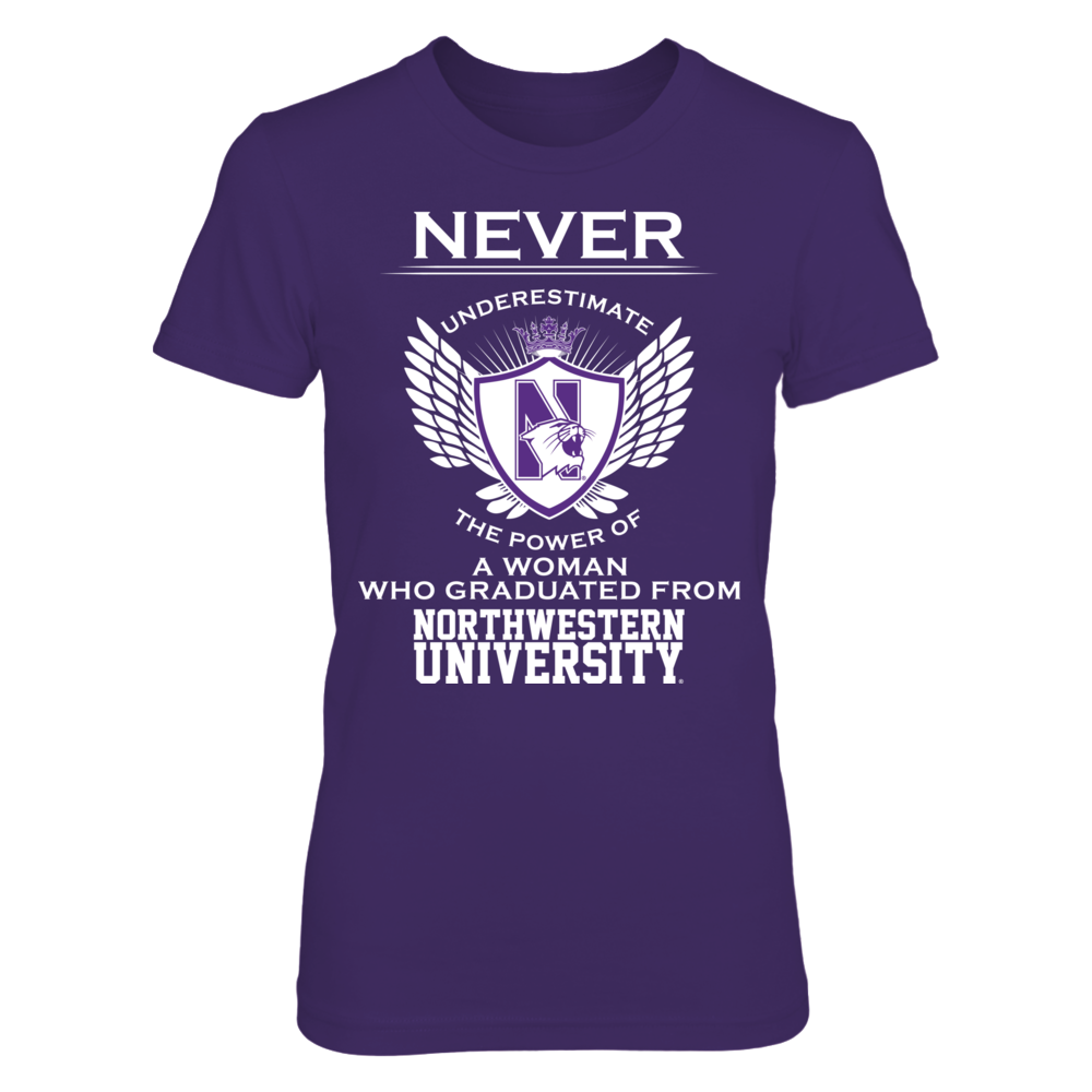 Never Underestimate - Northwestern Wildcats Front picture