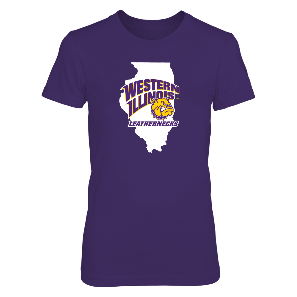 Western Illinois Leathernecks - Logo State Front picture