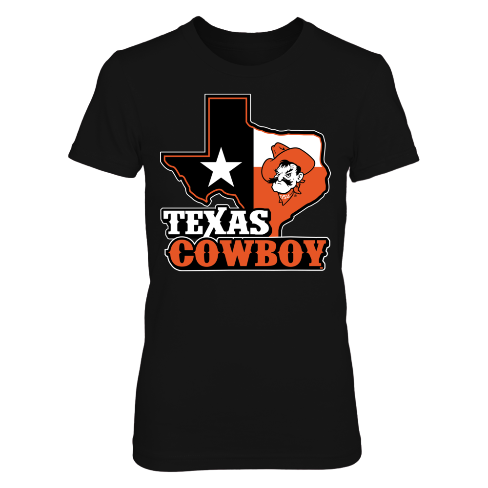 Oklahoma State Cowboys - Texas Map Mascot Front picture