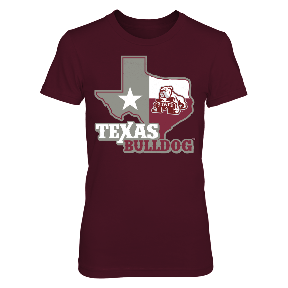 Mississippi State Bulldogs - Texas Map Front picture