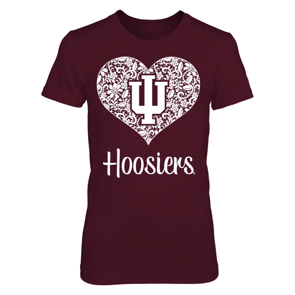 Indiana Hoosiers - Lace Heart Front picture