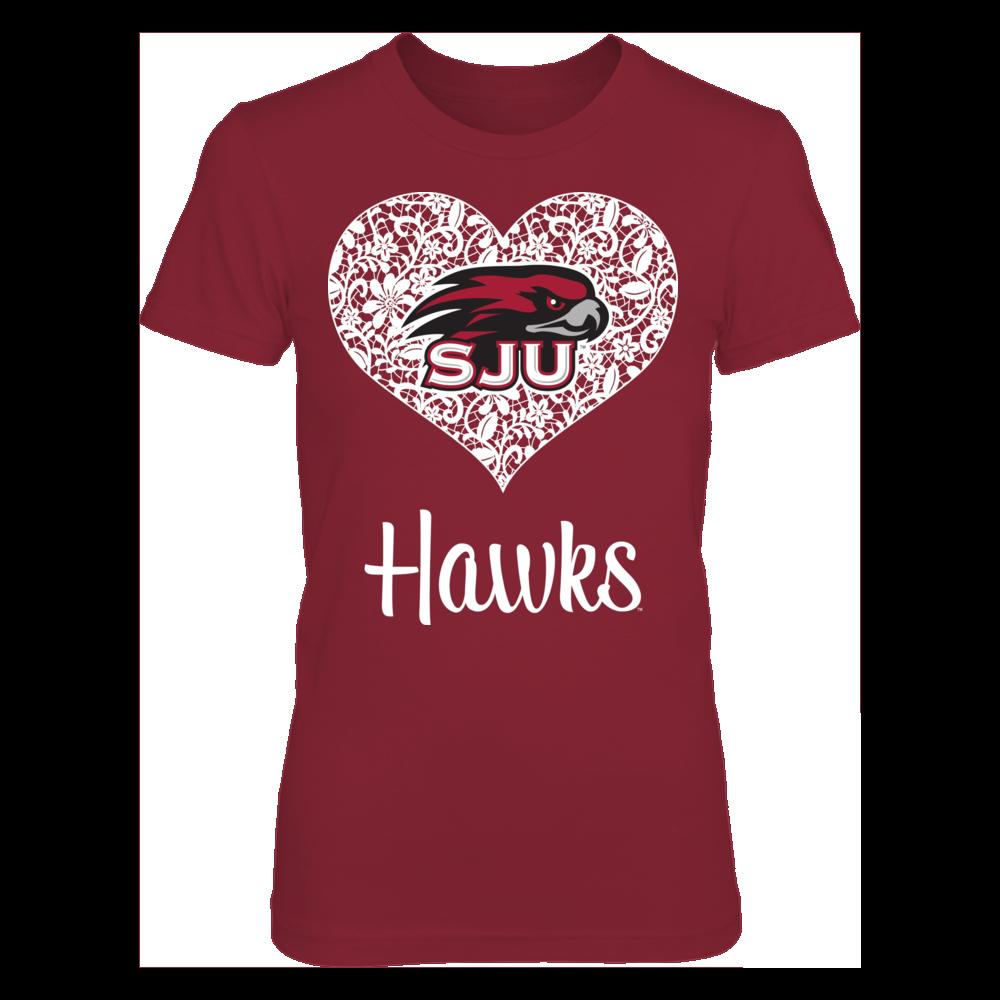 Saint Joseph's Hawks - Lace Heart Front picture