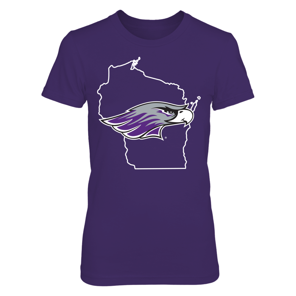 Wisconsin-Whitewater Warhawks - State Logo Front picture