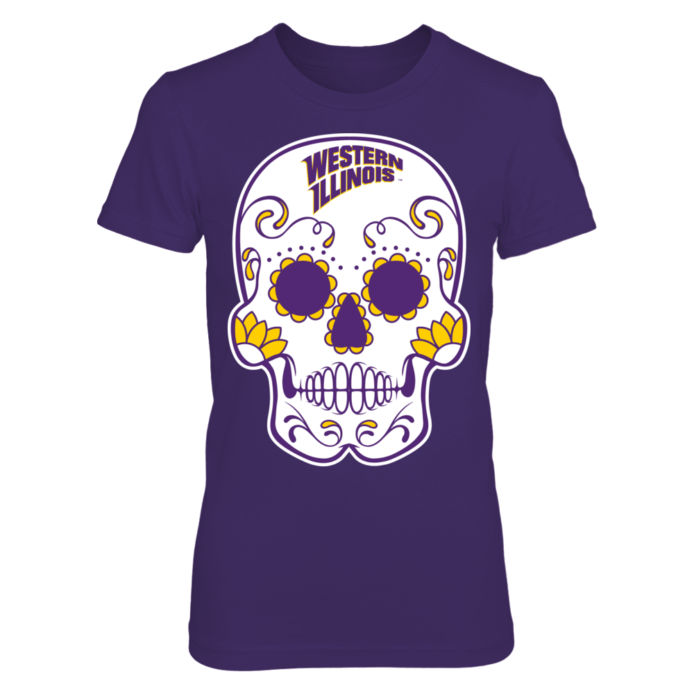 Western Illinois Leathernecks - Sugar Skull Front picture