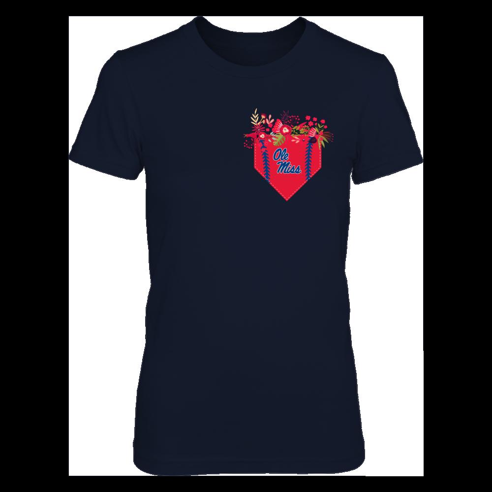 Ole Miss Rebels - Floral Baseball Pocket Shirt Front picture