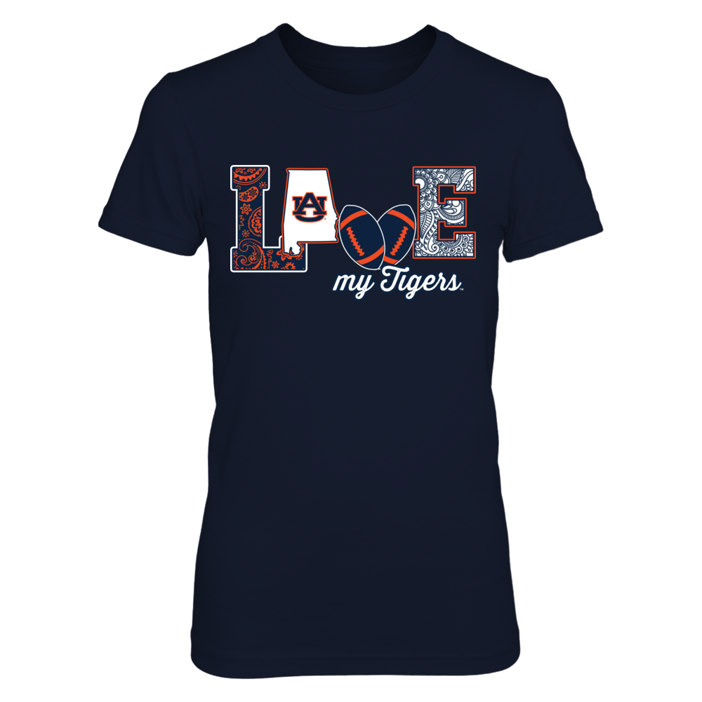 Auburn Tigers - Love My Team - Football - Original - IF-IC13-DS64 Front picture